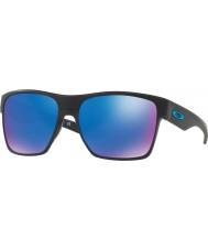 Oakley OO9350-05 TwoFace XL Matte Black - Sapphire Iridium Polarized Sunglasses