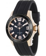 Marea 54042-2 Mens Fashion Black Silicone Strap Watch