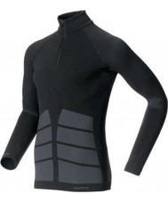 Odlo Mens Evolution Black Turtle Zip Neck Top
