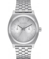 Nixon A922-1920 Mens Time Teller Deluxe Silver Steel Bracelet Watch
