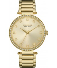Caravelle New York 44L209 Ladies T-Bar Gold Steel Bracelet Watch