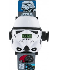 Star Wars STM3429 Boys Stormtrooper Projection Watch with Multicoloured Plastic Band