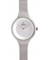 Obaku V166LXCIMC Ladies Silver Steel Mesh Bracelet Watch