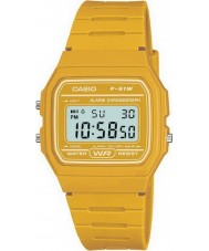 Casio F-91WC-9AEF Mens Retro Collection Yellow Chronograph Watch
