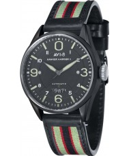 AVI-8 AV-4040-06 Mens Hawker Harrier II Two Tone Leather Strap Watch with Extra Black Nylon Strap