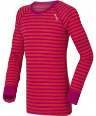 Odlo 10459-70244-104 Kids Crew Neck Violet-Pink Baselayer Top - 3-4 years (104 cm)