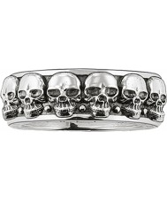 Thomas Sabo TR1878-001-12-62 Mens Silver Skull Ring Band - Size T.5-U (EU 62)
