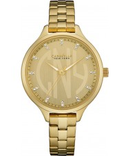 Caravelle New York 44L206 Ladies Round Slim Gold Steel Bracelet Watch