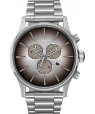 Nixon A386-2564 Mens Sentry Silver Steel Chronograph Watch