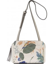 Fiorelli FH8637-PRINT Ladies Sadie White Botanical Print Crossbody Bag