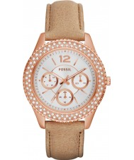 Fossil ES3816 Ladies Stella Sand Leather Strap Watch