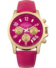 Daisy Dixon DD002PG Ladies Adriana Multidial Fuchsia Leather Strap Watch