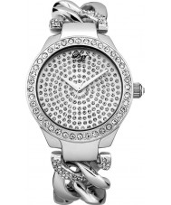 Little Mistress LM013 Ladies Stone Set Silver Tone Watch