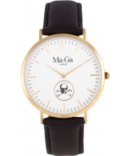 Chriselli Ma-Ga London Billy Bones Bayswater Chocolate Brown Leather Watch