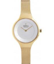 Obaku V166LXGIMG Ladies Gold Plated Mesh Bracelet Watch