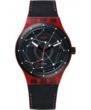 Swatch SUTR400 Sistem51 - Sistem Red Automatic Watch
