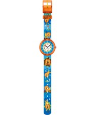 Flik Flak FBNP060 Boys Rawwwwr Multicoloured Textile Strap Watch