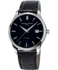 Frederique Constant FC-303B5B6 Mens Classics Index Black Leather Strap Watch