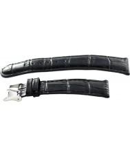 Krug Baümen 15058BLCKG Mens Enterprise Black Leather Replacement Strap
