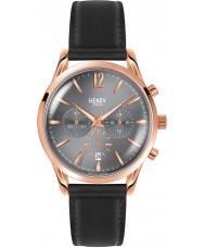 Henry London HL39-CS-0122 Finchley Black Leather Chronograph Watch