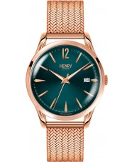 Henry London HL39-M-0136 Ladies Stratford Mallard Green Rose Gold Watch