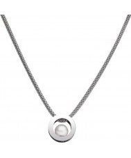 Skagen JNSW020 Ladies White Pearl Mesh Necklace