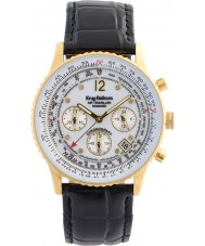 Krug-Baumen 400202DS Air Traveller White Dial Black Strap