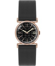 Orla Kiely OK2048 Ladies Cecelia Black Leather Strap Watch