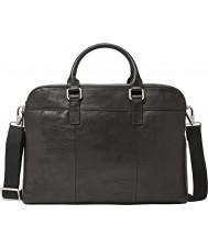 Fossil MBG9063001 Mens Mercer Black Double Zip Work Bag
