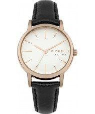 Fiorelli FO027BRG Ladies Black Leather Strap Watch