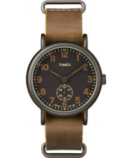 Timex TW2P86800 Mens Weekender Tan Leather Strap Watch