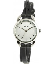 Chriselli Kahuna Ladies Black Leather Crossover Strap Watch