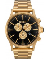 Nixon A386-510 Mens Sentry Gold Plated Chronograph Watch