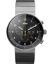 Braun BN0095BKSLBTG Mens Prestige Silver Tone Chronograph Watch