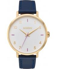 Nixon A1091-151 Ladies Arrow Navy Leather Strap Watch