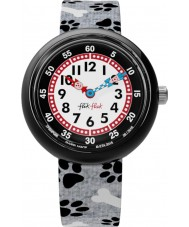Flik Flak FBNP066 Boys Ilio Black and White Watch