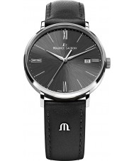 Maurice Lacroix EL1087-SS001-310 Mens Eliros All Black Leather Strap Watch
