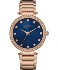 Caravelle New York 44L210 Ladies T-Bar Rose Gold Steel Bracelet Watch