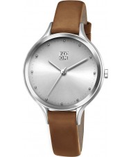 Zoom ZM-3837L-2522 Ladies Pure Silver Brown Watch