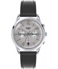Henry London HL39-CS-0077 Piccadilly Grey Crosshatch Black Chronograph Watch