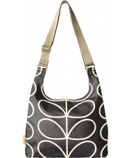 Orla Kiely 0ETCLIN044 Ladies Giant Linear Stem Liquorice Midi Sling Bag