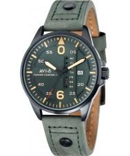 AVI-8 AV-4003-04 Mens Hawker Harrier II Dark Green Leather Strap Watch