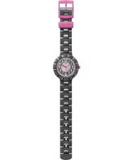 Flik Flak FCSP021 Girls Cuorantra Black Silicone Strap Watch