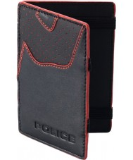 Police POMGA7-0905 Zephyr Black Leather Magic Wallet