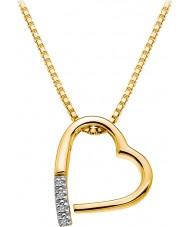Hot Diamonds DP555 Ladies Memories Yellow Gold Plated Pendant Necklace