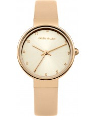 Karen Millen KM131CRG Ladies Nude Leather Strap Watch