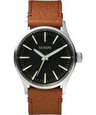 Nixon A377-1037 Mens Sentry 38 Black Saddle Watch