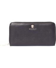 Modalu MS6305-BLACK Ladies Pippa Black Leather Zip Around Purse
