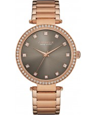 Caravelle New York 44L211 Ladies T-Bar Rose Gold Steel Bracelet Watch
