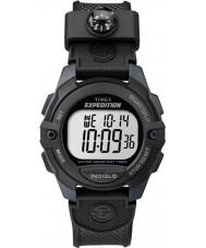 Timex TW4B07700 Mens Pusher Black Resin Chronograph Watch